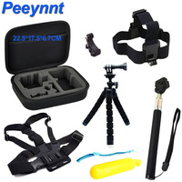Peeynnt Accessories Set For Gopro Hero 6 Straps Mounts For Go Pro 5 4 3 Tripods