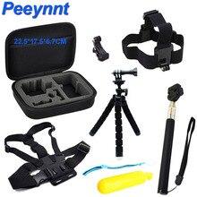 Peeynnt Интимные аксессуары набор для GoPro Hero 6 Бретели для нижнего белья крепления для Go Pro 5 4 3 Штативы для Xiaomi Yi 4 К SJCAM SJ4000 sj5000 EKEN H9 h9r