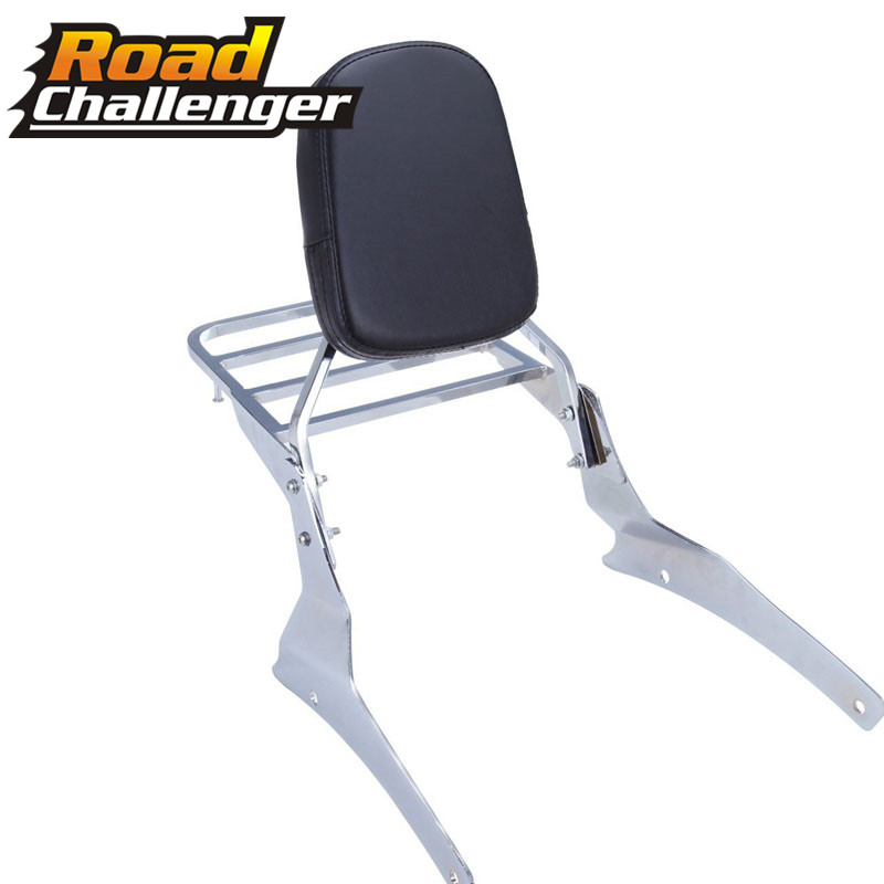 Chrome Backrest Sissy Bar With Luggage Rack  For Suzuki Volusia Vl800 Vl400 2001-2004 Boulevard C50 2005-2011 Motorcycle