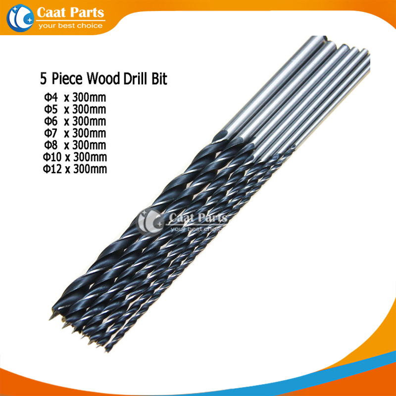 Us 7 15 7 Off High Quality 7 Pcs Lot 300mm Extra Long Brad Point Wood Drill Bit Set Woodworking Tool 4 5 6 7 8 10 12mm In Drill Bits From Tools On