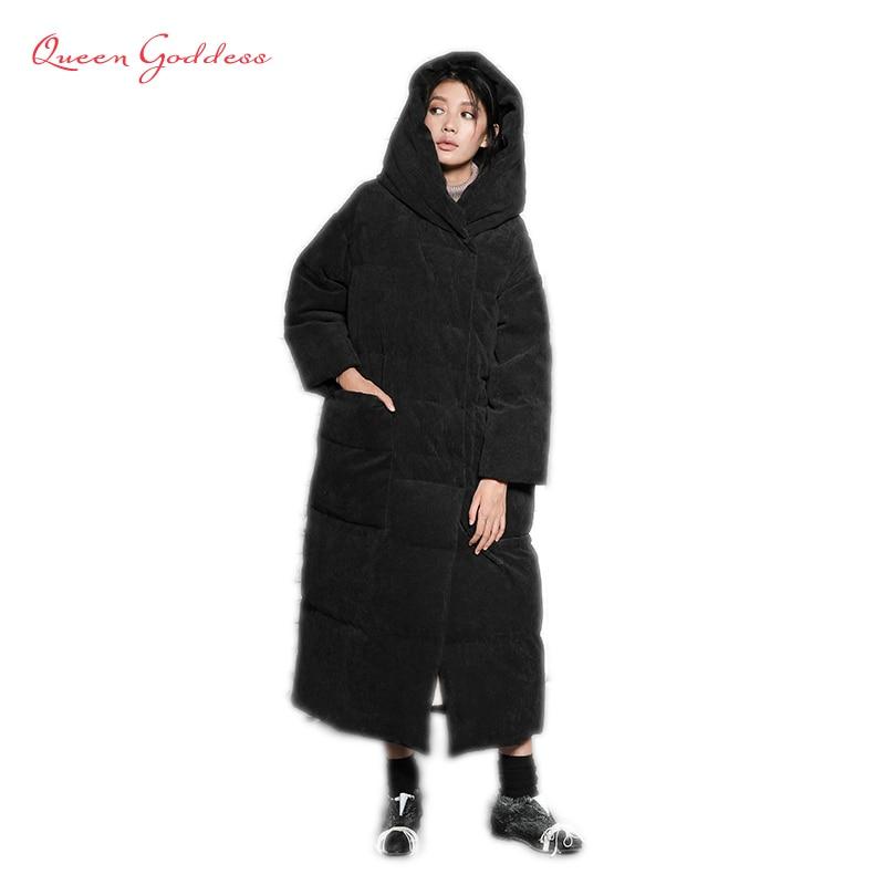 Супер длинные очень плотные супер модные оригинальный дизайн женская зимняя теплая куртка с имел повседневные пальто большой карман Больш...
