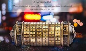 Image 5 - צעצועים חינוכיים Cryptex מתכת מנעולי דה וינצ י קוד נעילת להתחתן מאהב חתונה מכתב סיסמא נעילת אחסון עיצוב הבית