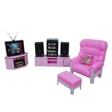 Новое поступление Ретро ТВ развлекательный набор для куклы Барби мебель 1/6 масштаб Миниатюрные аксессуары для гостиной ТВ шкаф Hi-Fi