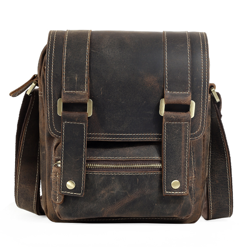 New vertical vertical square diagonal cross parcel first layer leather bag male bag street trend of leather ipad bag qiaobao 2018 new korean version of the first layer of women s leather packet messenger bag female shoulder diagonal cross bag