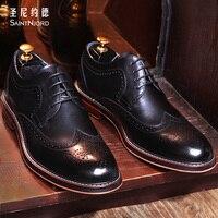 Италия мужская мода Баллок обувь высочайшее качество ручной работы, резные оксфорд обувь бизнес формальный обувь мужская платье свадебное