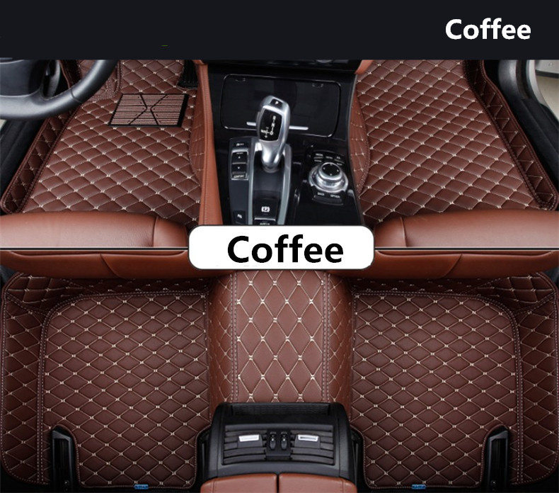 Auto Floor Mats For Peugeot 3008 2013-2018 Foot Carpets Step Mat High Quality Embroidery Leather 3d trunk mat for peugeot 508 waterproof car protector carpet auto floor mats keep clean interior accessories