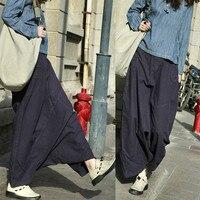 Free Shipping 2018 New Fashion Long Pants For Women Loose Trousers Cotton Elastic Waist Casual Pants M L Purple Color Pants