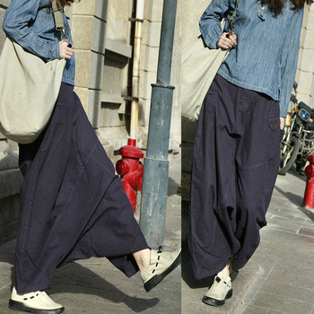 цена на Free Shipping 2019 New Fashion Long Pants For Women Loose Trousers Cotton Elastic Waist Casual Pants M-L Purple Color Pants