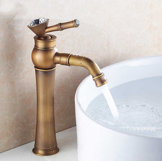 New arrival high quality antique brass luxury bathroom single lever design sink faucet basin faucet,kitchen tap mixer new designed antique brass bamboo arts bathroom basin sink drain pop up waste vanity with overflow