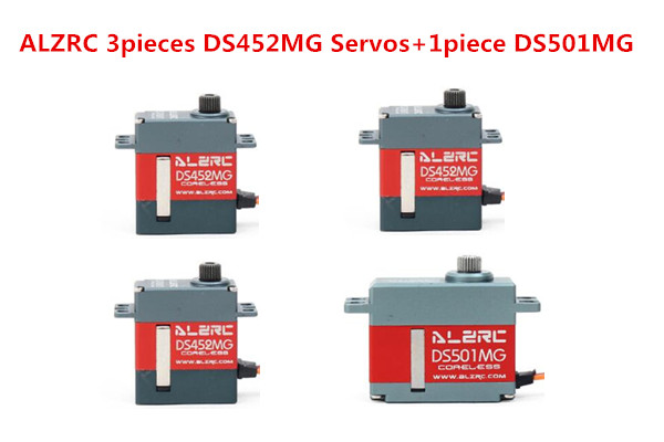 все цены на ALZRC 3pieces DS452MG Servos+1piece DS501MG Servo For 380 450 480 500 RC Helicopter онлайн