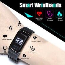 F1 Sports Smart Band Watch Pedometer Fitness Blood Pressure Heart Rate Tracker Digital Intelligent Bracelet Clock for Men Women