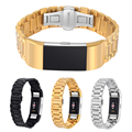 Black/Silver/Gold Stainless Steel Bracelet Band Loop Strap For Fitbit Charge 2 Watch Heart Rate & Activity Tracker