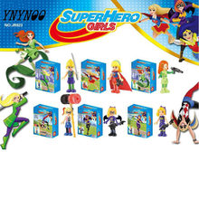 YNYNOO DC Super Heroes Girls Wonder Woman Dorm Building Blocks Classic For Girl Kids Model Toys Marvel Kids toys Christmas gifts(China)