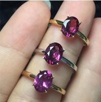 Натуральный гранат палец кольцо Бесплатная доставка натуральной 18 К золото 8*10 мм gem для мужчины или женщины кольцо gem 6*8 мм