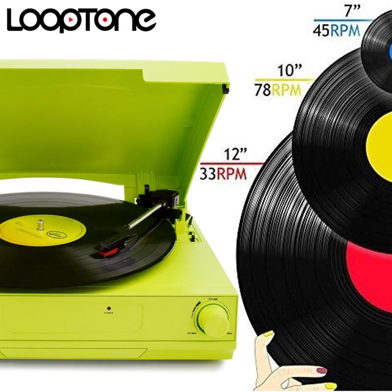 LoopTone 33/45/78 RPM Vinilo LP Reproductor de discos tocadiscos - Audio y video portátil - foto 2