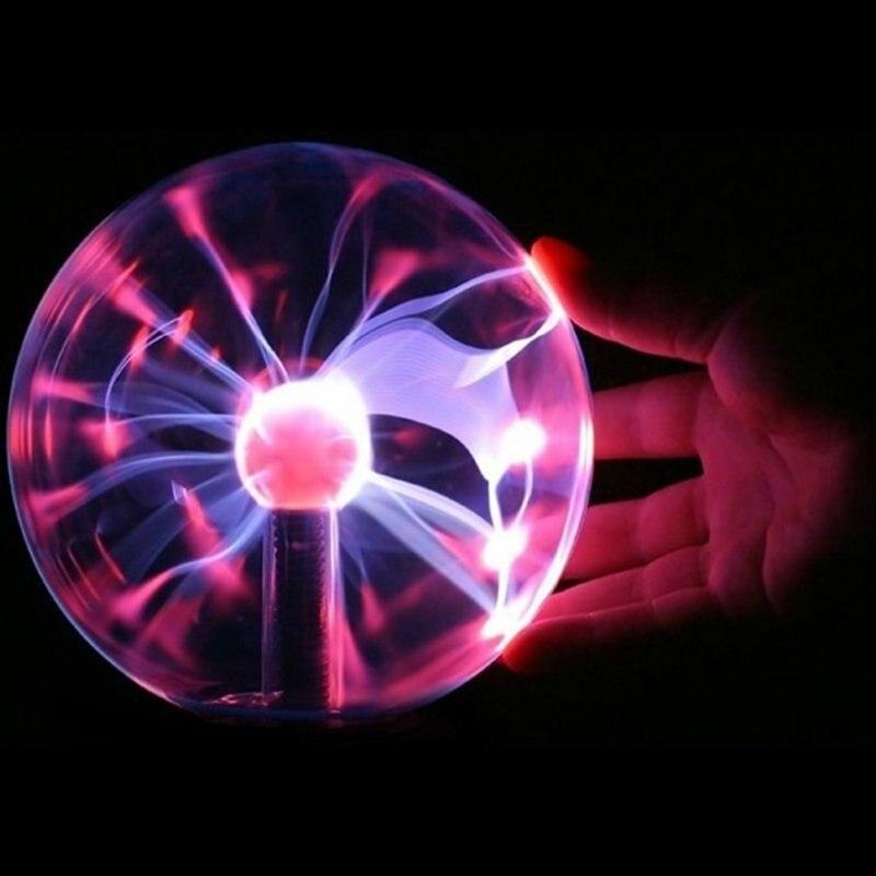 Caja de lámpara de Lava lámpara de iluminación Bola de Plasma mágica Luz Retro 3 pulgadas niños fiesta de Navidad Cristal regalo habitación Decoración Luz