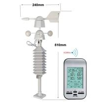 RF 433 mhz беспроводные Часы-метеостанция с датчиком скорости ветра и направления