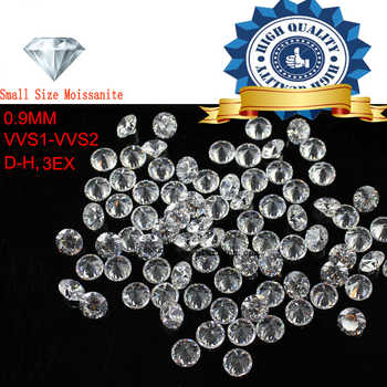 1Ctw/Lot Small Size 0.9mm White color Moissanite Round Brilliant Moissanites Loose Stone for Jewelry making - DISCOUNT ITEM  42% OFF All Category