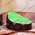 FRETE GRÁTIS assento de bebê com 2 pcs verde up cover feijão bebê saco de feijão cadeira simplório assento do saco de feijão bebê saco de feijão cama do miúdo