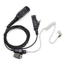 XQF Security Guard Headset Air Tube Earpiece PTT Mic for Motorola Portalbe Radio MTP6550 MTP6750 DGP4150 Walkie Talkie Earphone