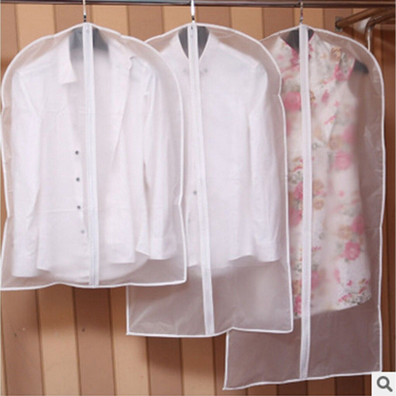 Suit Coat Storage-Bags Dress Wardrobe Dust-Cover Garment Hanging Transparent