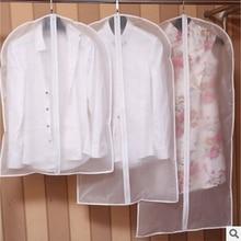 Горячая одежда висячая одежда платье костюм пальто пылезащитный чехол Прозрачный Шкаф сумки для хранения