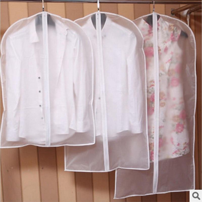 Hot Clothes Hanging Garment Dress Clothes Suit Coat Dust Cover Transparent Wardrobe Storage Bags