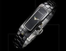 Dame élégante Rectangle Plein En Céramique Bracelet Montres Vogue Femmes 2 Mains Quartz montre-Bracelet Japon Movt Robe Horloge Montres NW88