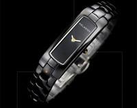 Cool Rectangle Full Ceramic Watches Vogue Women 2 Hands Quartz Wristatches Japan Movt Dress Clock 3ATM