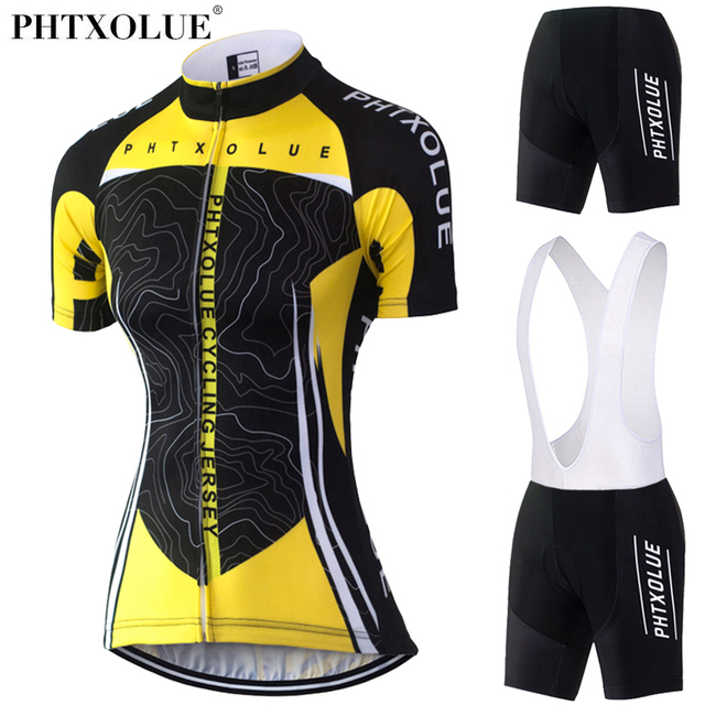 Phtxolue Cycling Clothing Women Short Set Breathable Quick Dry Bike Bicycle  Clothing Wear Cycling Set Summer Cycling Jersey 2017 ebb11337c