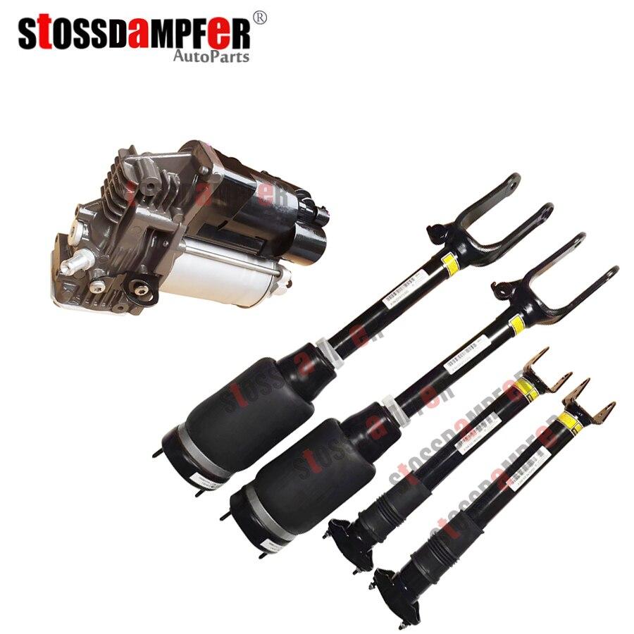StOSSDaMPFeR 5 pcs Frente De Choque do Ar Sem ANÚNCIOS Rear Air Ride Compressor de Ar Fit Benz W164 X164 GL450 ML GL 1643206113 1643200304