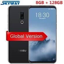 Orijinal Meizu 16th 16 Küresel Sürüm 4G LTE Snapdragon 845 Octa Çekirdek 8 GB 128 GB 6.0