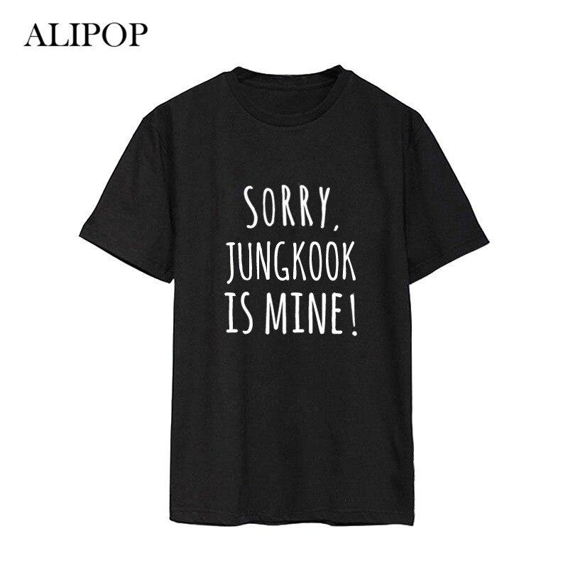 ALIPOP Kpop BTS Bangtan Boys Álbum Parodia Travesura Camisas Ropa Casual de Algodón, Camiseta, Camiseta de Manga Corta Tops T-shirt DX460