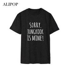 Alipop Поп БТС bangtan мальчики альбом пародия озорства рубашки повседневная одежда из хлопка футболка короткий рукав футболки DX460
