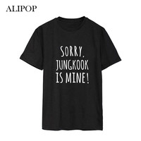 ALIPOP Kpop BTS Bangtan Boys Album Spoof Mischief Shirts Casual Cotton Clothes Tshirt T Shirt Short