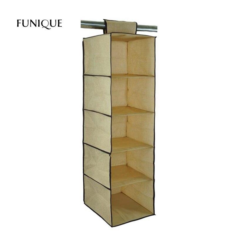 FUNIQUE 1PC Practical Hanging Box Underwear Sorting Clothing Shoe Jean Storage Mails Door Wall Closet Organizer Closet Bag