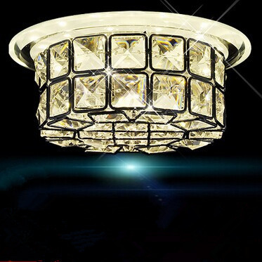 12W,Modern round Crystal Metal LED ceiling light,flower,corridor balcony entrance for bedroom hall,5730LED,Bulb Included,AC vemma acrylic minimalist modern led ceiling lamps kitchen bathroom bedroom balcony corridor lamp lighting study
