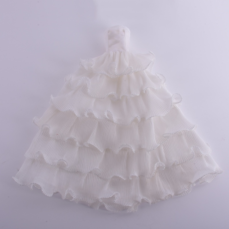 Beautiful Princess White Dress Barbie Wedding Party Bridal Gown ...