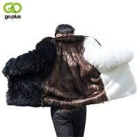 GOPLUS 2018 Fashion Faux Fur Men Coats Winter Fake Fox Fur Thick Warm Jackets Punk Parka