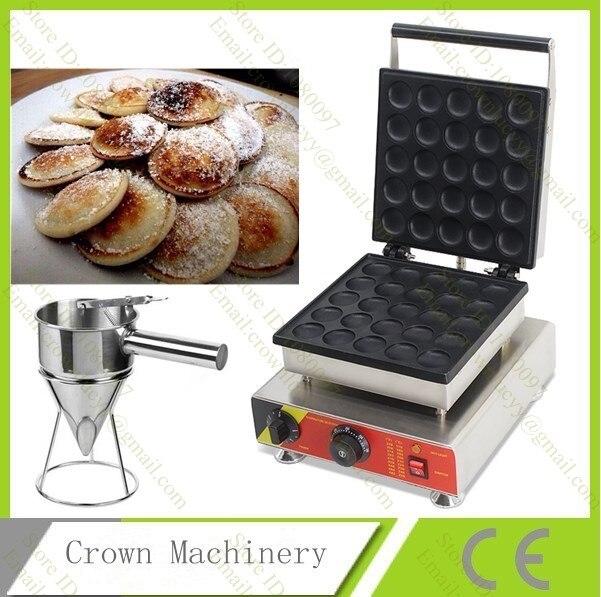 Commercial Nonstick 110v 220v Electric 25pcs Mini Poffertje Dutch Pancakes Machine Maker Baker with Batter Dispenser