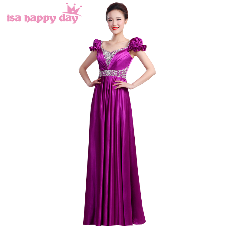 bridesmaid robes women purple sexy 2020 party dress beautiful bridemaids floor length birthday dresses for adults H3148