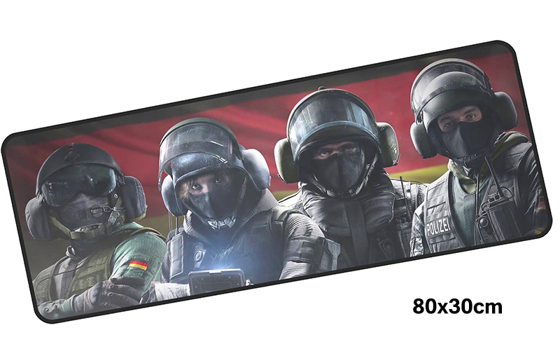 rainbow six siege mousepad gamer 800x300X3MM gaming mouse pad big Fashion notebook pc accessories laptop padmouse ergonomic mat