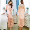 pajamas women summer Sexy Two-piece dress Home Bathing long sleeve robes Sling Lace Silk Mini Skirt Sexy charm