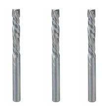 3 pc 4 × 22 ミリメートルアップダウンカット 2 フルートスパイラル超硬ミルツール Cnc のルーター、圧縮木材エンドミルカッタービット