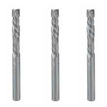 3pc 4x22mm UP DOWN Cut Two Flutes Spiral Carbide Mill Tool Cutter for CNC Router, Compression Wood End Mill Cutter Bit