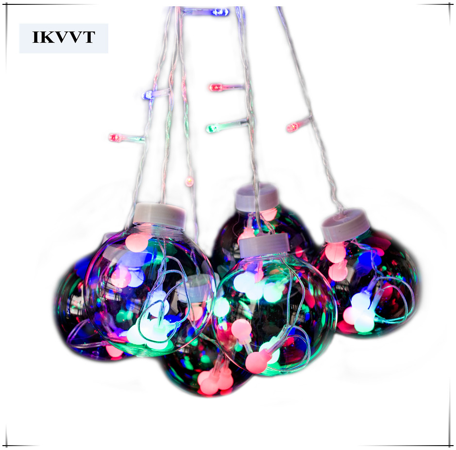 hot sell free shipping 3m curtain ball rgb string outdoor christmas decoration light ...