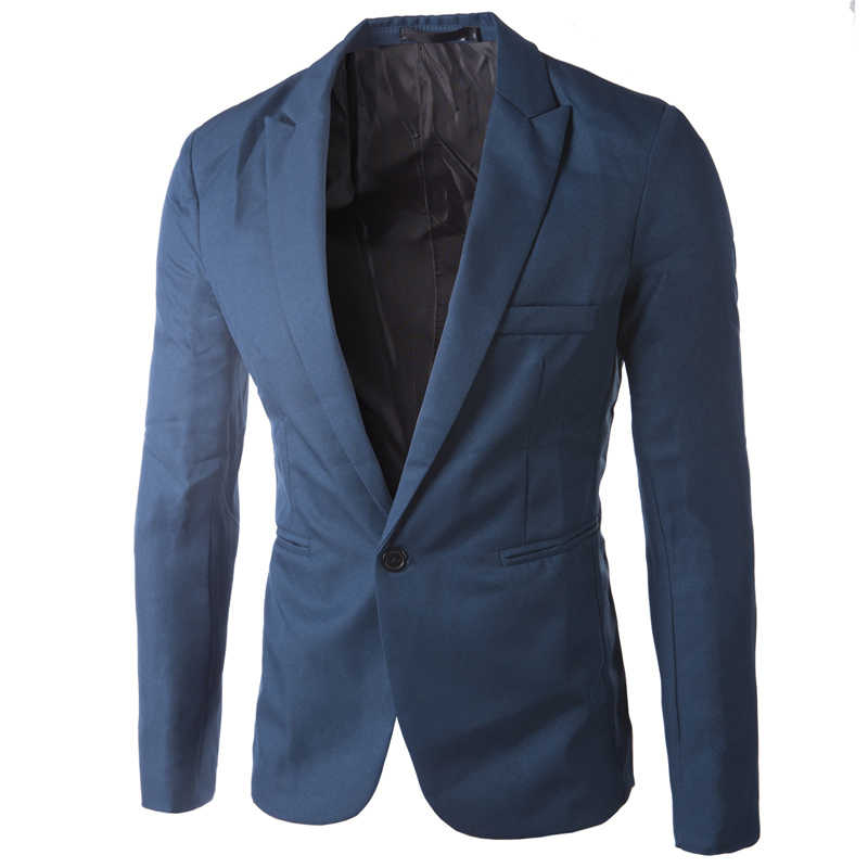Marca azul cielo Blazer hombre traje Veste Homme 2017 nueva llegada hombre delgado ajuste chaqueta elegante Rojo Negro Rosa traje hombre 3XL