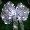 4.0 m 40 seda largura smd levou luz natal festa de casamento ano novo decorações fundo da cortina bateria luz de fio de cobre