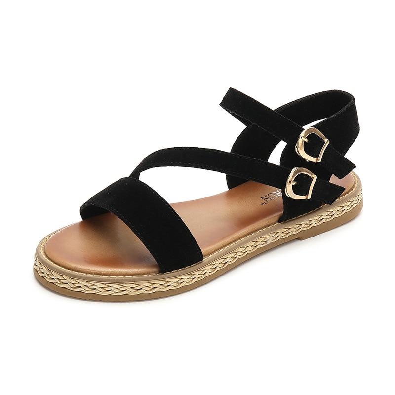 Dames Confortable Plage Femmes 2018 Sandales Chaussures Occasionnels Mode Apricot Gladiateur noir brown Plates Sandale De D'été tnYggIwq