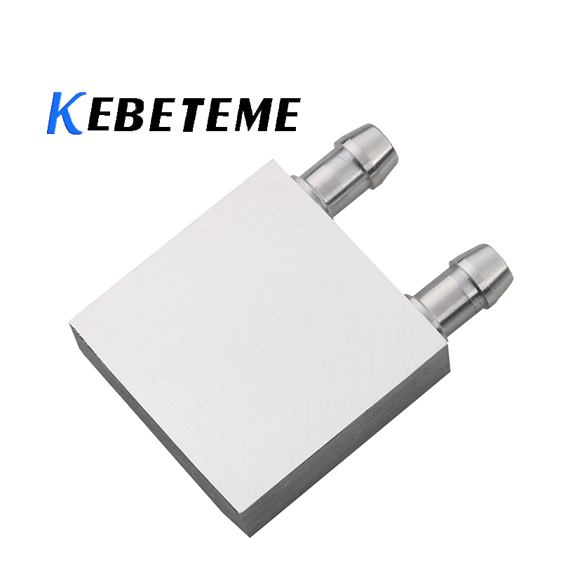 KEBETEME 40*40mm Primary Aluminum Water Cooling Block for Liquid Water Cooler Heat Sink System For SB North Bridge-Screws Clip(China)